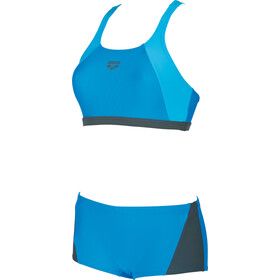 arena Rem Two-Pieces Swimsuit Damen pix blue-shadow grey-turquoise